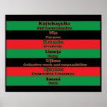 Siete principios de Kwanzaa (horizontal) Póster