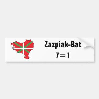 Siete provincias una pegatina para el parachoques  etiqueta de parachoque
