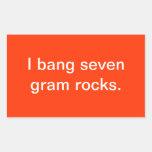 Siete rocas del gramo pegatina