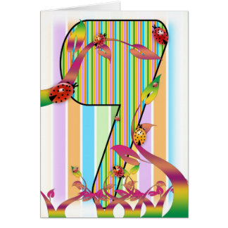 Siete, séptima tarjeta de cumpleaños, 7ma