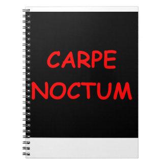 sieze the night spiral notebook