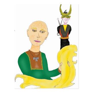 Sif and Loki Postcard
