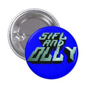 Sifl and Olly Metal Logo Button(Blue) Pinback Button