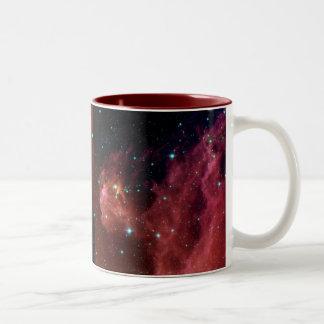Sig07-006 Red dust sky cloud NASA Two-Tone Coffee Mug