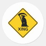 Sig del parca/de la carretera de la travesía de la etiqueta redonda