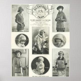 Sig-Knit-Ring Yarn 1923 Poster