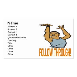 Siga a través tarjetas de visita