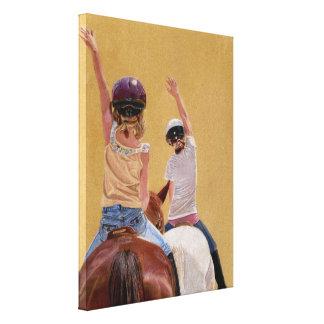 Siga el arte de la lona del caballo del líder impresión en lona