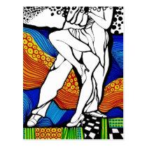 postcard, modern, art, artsprojekt, argentina, buenos, aires, patricia, vidour, ink, drawing, artistic, creative, tango, milonga, line, figure, ballroom, dance, dancing, music, gardel, passion, musical, neo, pop, painting, ceremonial dance, Argentina, auditory communication, Tango music, monophony, actor, ritual dance, Mataderos, pas de trois, Buenos Aires, social dancing, Salerno, ritual dancing, Cartão postal com design gráfico personalizado