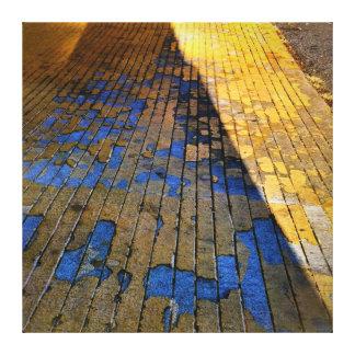 Siga el camino amarillo del ladrillo impresion de lienzo