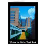 Siga el camino amarillo del ladrillo tarjetas
