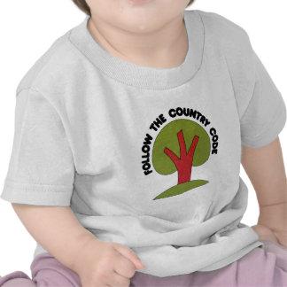 Siga el código de país camiseta