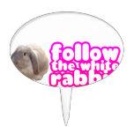 Siga el conejo blanco - conejito lindo figuras para tartas