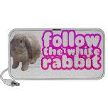 Siga el conejo blanco - conejito lindo altavoz