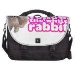 Siga el conejo blanco - conejito lindo bolsas de portatil