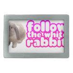 Siga el conejo blanco - conejito lindo hebillas de cinturon