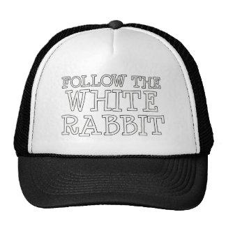 Siga el conejo blanco gorra