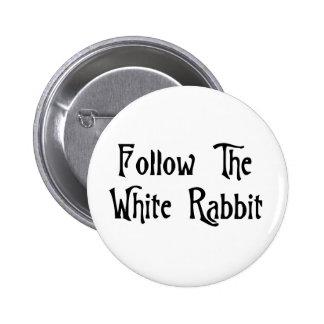 Siga el conejo blanco pins