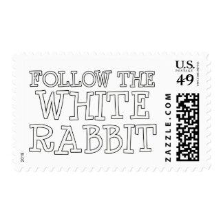 Siga el conejo blanco sellos