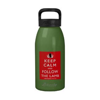Siga el cordero botella de beber