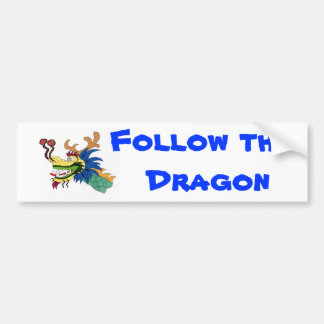 Siga el dragón pegatina para auto