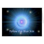 Siga el HOGAR de la estrella azul Felicitación