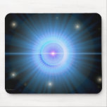 Siga el HOGAR de la estrella azul Tapete De Ratón