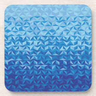 Siga el mar azul posavasos de bebida