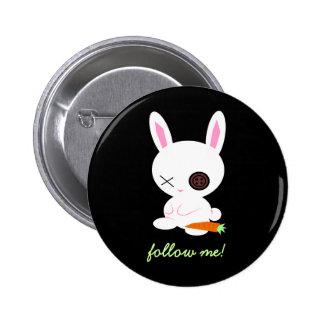 Siga el perno blanco del conejo pin