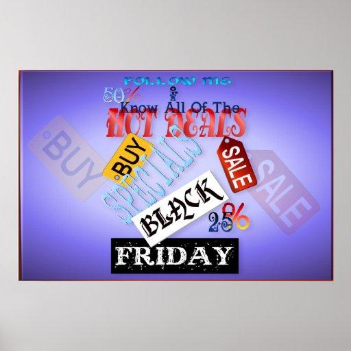 Siga el poster Mí-Negro de viernes