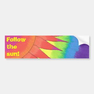 ¡Siga el sol! Pegatina para el parachoques Pegatina Para Auto