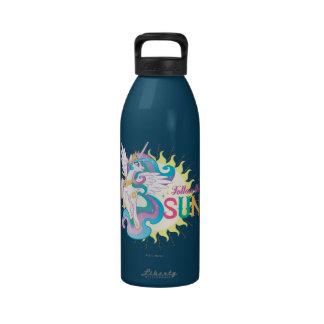 Siga el Sun Botella De Agua