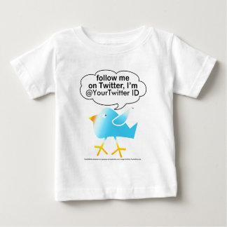 Siga la camiseta del bebé de Me@ Playera