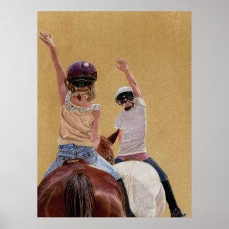 Siga la impresión del arte del caballo del líder póster