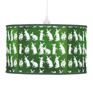 Siga la lámpara de mesa blanca del conejo