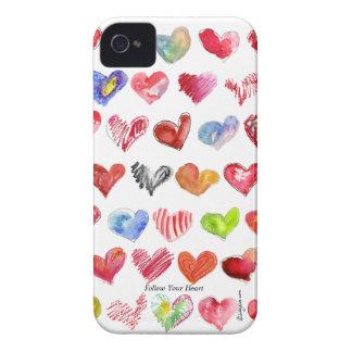 Siga su caja intrépida de Blackberry del corazón ( iPhone 4 Case-Mate Carcasa
