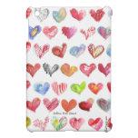 Siga su caja multicolora del iPad de los corazones