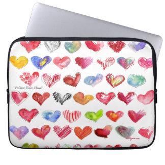 """Siga su corazón 13"""" bolso de la cubierta de la man funda computadora"""