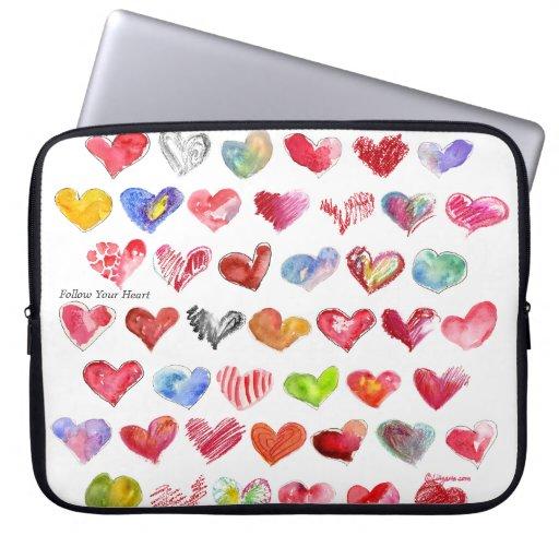"""Siga su corazón 15"""" bolso de la cubierta de la man manga computadora"""