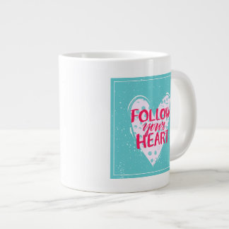 Siga su corazón 2 taza grande