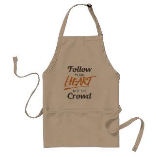 Siga su corazón delantal