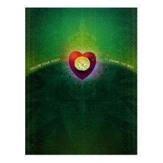 Siga su corazón (la postal) postales