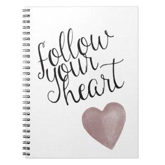 Siga su corazón libreta