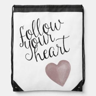 Siga su corazón mochila