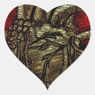 Siga su corazón pegatina de corazon