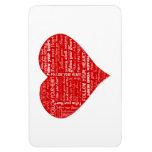 Siga su corazón rojo y blanco del corazón - del am imanes flexibles