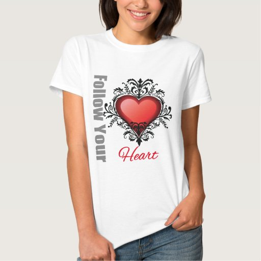 Siga su corazón t shirts