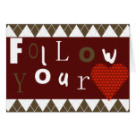 Siga su corazón tarjeta