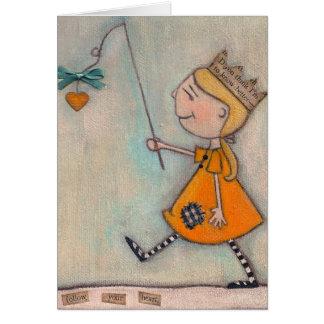 Siga su corazón - tarjeta de felicitación