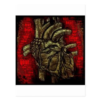 Siga su corazón tarjetas postales